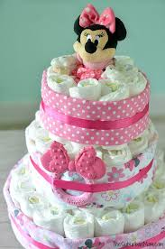 minnie mouse diaper cake tutorial
