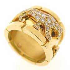 cartier rings ebay images Cartier 18k yellow gold panthere mahango ring with 186 diamonds jpg