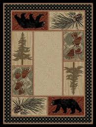 Forest Rug Pine Forest Bear Rug Cabin Place