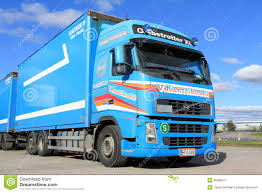 volvo long haul trucks blue volvo fh12 500 long haulage truck editorial photography