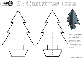 6 best images of printable 3d christmas tree printable christmas