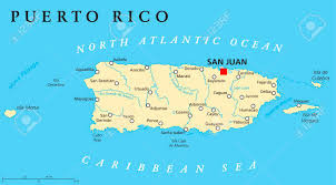 German States Map Puerto Rico Political Map With Capital San Juan A United States