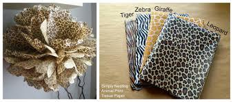 cheetah print tissue paper animal print tissue paper pom pom tiger giraffe zebra