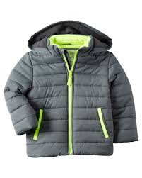 fleece lined puffer jacket carters