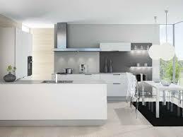 cuisine blanche et grise photo cuisine blanche grise amenager espace moderne