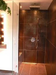 bathroom charming unique walk in shower with basalt stone tile