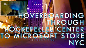 lexus hoverboard footage hoverboard from rockefeller center to microsoft store new york