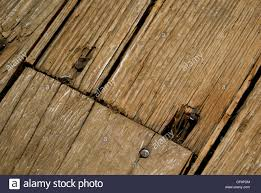 Hardwood Floor Nails Old Wood Floor With Rusty Nails Stock Photo Royalty Free Image