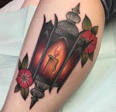 lantern neo traditional style calf piece best tattoo design ideas