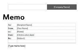office memo templates