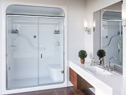 Stall Shower Door Shower Unit Sh5ls Rs One Shower Stall With Seat Fd54ps