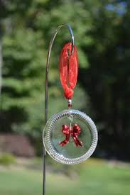 recycled glass ornament snowflake ornament bottle ornament