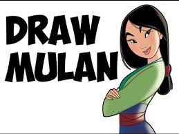 draw mulan step step easy princess drawing tutorial
