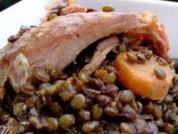cuisiner la palette de porc palette de porc aux lentilles recette ptitchef