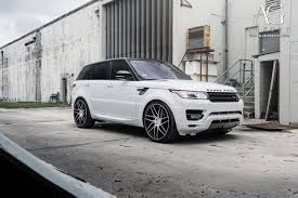 land rover range rover white ag luxury wheels range rover sport forged wheels