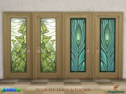 wood doors with glass inserts a set of wood doors in four frame colors with stained glass