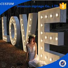 illuminated sign letter metal decorative letters party lights