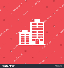 apartment house flat icon on red stock vector 567928234 shutterstock