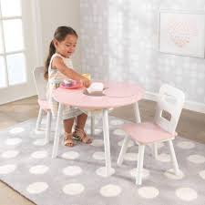 kidkraft round table and 2 chair set round storage table 2 chair set pink white