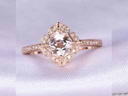 engagement ring sale limited time sale antique 1 25 carat morganite and