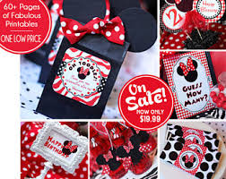 minnie mouse birthday party minnie mouse party etsy