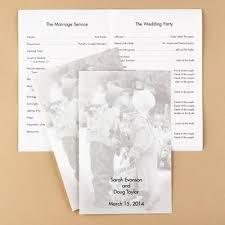 Program Paper Wedding Program Ideas