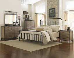 industrial revival style queen size metal bed by magnussen home