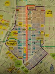the map of the 16th st mall in downtown denver colorado by the