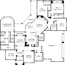 4 bedroom 1 story house plans luxury floor plans one story homes zone