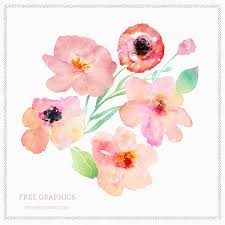 Watercolor Flowers - free spring watercolor flowers free design resources