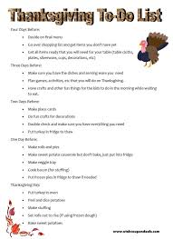 thanksgiving to do list take the stress out by planning ahead