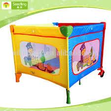 baby playard square portable folding crib bed giraffe infant