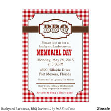 backyard barbecue bbq invitation rustic country card country