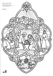 christmas coloring nativity nativity jewelry