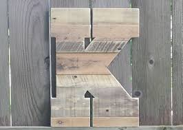 large rustic wood letter rustic home decor reclaimed wood