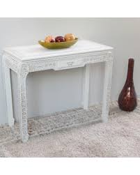 Antique White Console Table Spectacular Deal On International Caravan Windsor Hand Carved One