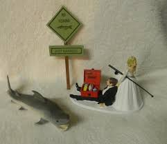 fish cake toppers fishing wedding cake toppers