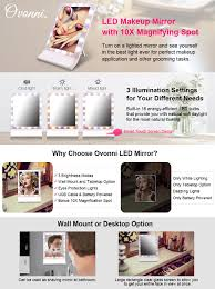 amazon com ovonni led lighted makeup mirror desktop wall mount