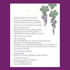 Winery Wedding Invitations Winery Wedding Enclosure Cards Etiquette Wording U0026 Sizing U2013 Wine