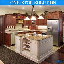china american kitchen furniture solid wood maple kitchen with