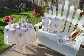 little tea table set bernideen s tea time cottage and garden first tea in the garden