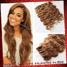 honey weave dying weave brown indian remy hair