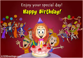 wish an enjoyable birthday free for your friends ecards greeting