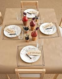 thanksgiving table cover 40 and easy thanksgiving table settings kraft paper tic
