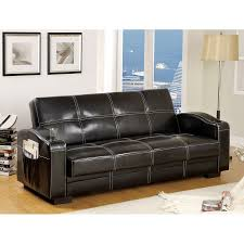 Futon With Storage Drawers Furniture Fabulous Faux Leather Futon For Living Room Decor