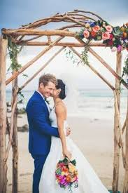 wedding arches south wales colorful wedding byron bay floral arch and