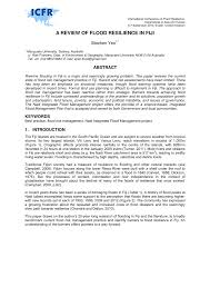 a review of flood resilience in fiji pdf download available