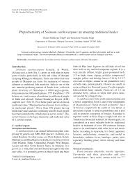 phytochemistry of solanum xanthocarpum an amazing traditional healer