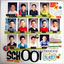 school photo album school years scrapbook wow i really want to do a page