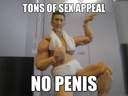Sex Appeal Meme - tons of sex appeal no penis unfortunate ken doll quickmeme